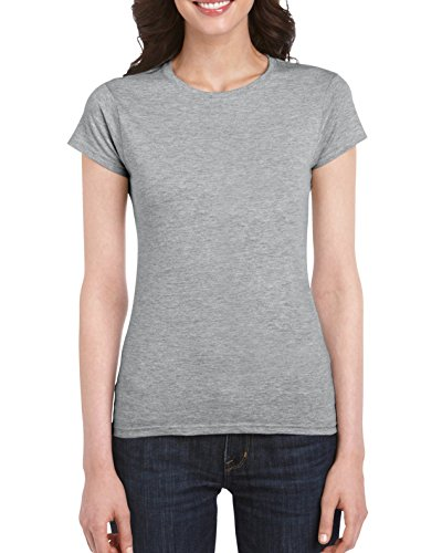 Gildan SoftStyle T-Shirt pour femme Gris - Gris sport