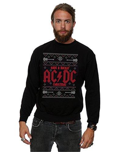 AC/DC Herren Rockin' Christmas Sweatshirt X-Large Schwarz