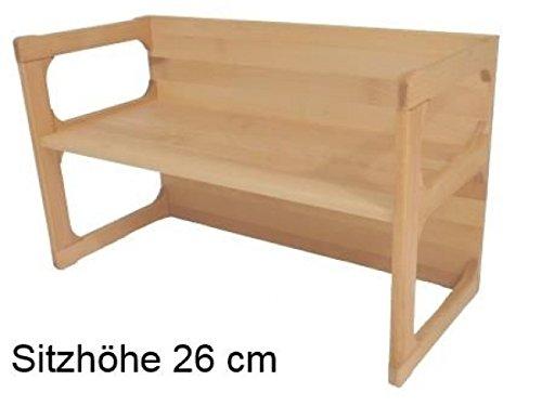 Wendebank als Wendemöbel vielseitig einsetzbar | Wendebank stabil und zeitlos | Kinderzimmermöbel aus 18mm massivem Buchenholz | robust, für Kindergarteneinsatz geeignet |...