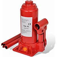vidaXL Cric bouteille hydraulique 5 tonnes Rouge
