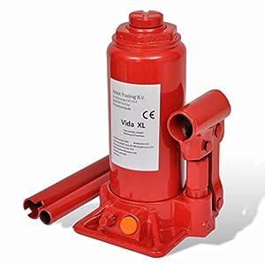 vidaXL Cric bouteille hydraulique 5 tonnes Rougepas cher