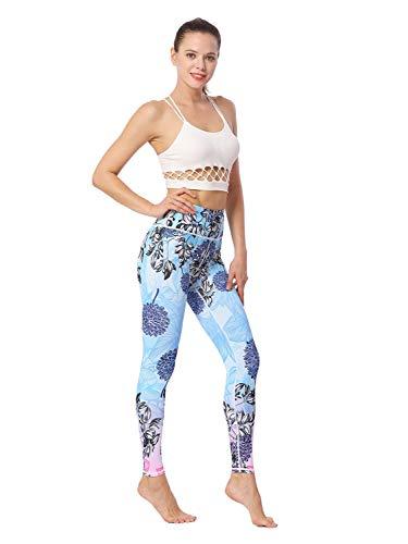 chkontrolle Bedruckte Leggings Buttery Soft Workout Shapewear Poppy M Hose (Color : Poppy, Size : S-EUR) ()