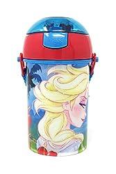 HMI Original Licensed Disney, Marvel & Nickelodeon Character Polypropylene Pop Up Canteen Sipper Bottle / Water Bottle, BPA free, 450 ml (Frozen Princess)
