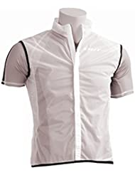 Impermeable-Chaleco Out-Wet Gil-RT blanco/negro-Talla L