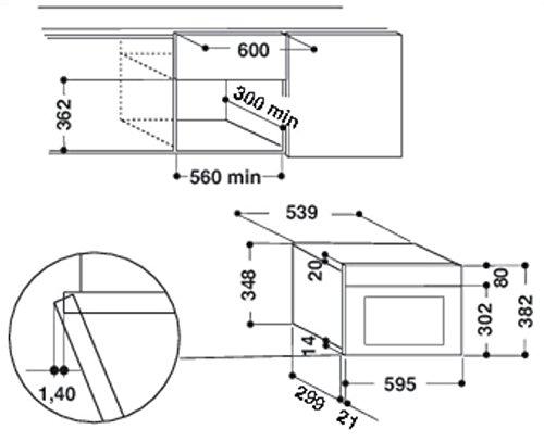 Whirlpool AMW 439 WH Integrado 22L 750W Blanco - Microondas (Integrado, 22 L, 750 W, Botones, Blanco, 700 W)