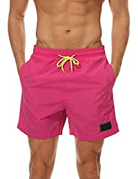 c309162a07 Men's Beach Shorts Quick Dry Waterproof Sports Shorts Bathing Suit Swim  Trunks