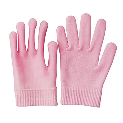 Pinkiou Gel Spa Handschuhe Soften Whiten Skin Feuchtigkeitsbehandlung Hand Maske Pflege Handschuhe (Pink)