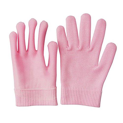 Pinkiou feuchtigkeitsspendende Handschuhe Gel Innen für Hände erweichen und aufhellen (Rosa)
