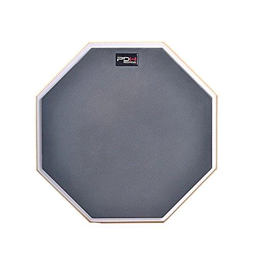 Mugig Übungspad Schlagzeug 12 Zoll für Anfänger einseitig Spezialgummi-Oberfläche Gewinde M8