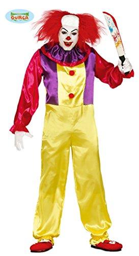 Killer Clown Kostüm für Herren Gr. M/L, Größe:M
