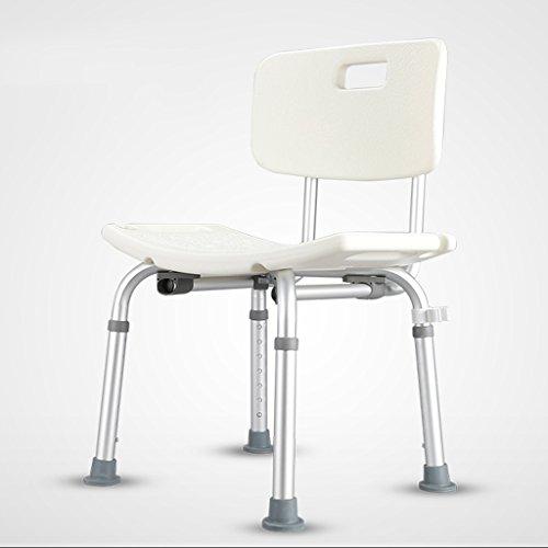 LXN Deluxe höhenverstellbarer Aluminium Bad/Duschstuhl mit Rücken- und Duschkopfhalterung (größe : A) -