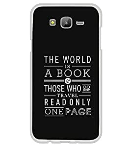 PrintVisa Designer Back Case Cover for Samsung Galaxy On7 G600Fy :: Samsung Galaxy Wide G600S :: Samsung Galaxy On 7 (2015) (World Book Those Travel Read Page Quote Wallpaper)