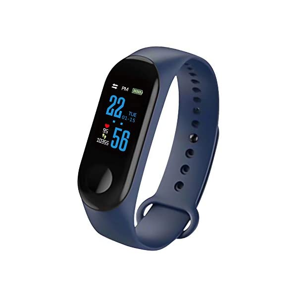 Konesky Fitness Tracker Monitor de Ritmo cardíaco Pulsera de presión Arterial Actividad Reloj Podómetro Contador de… 2