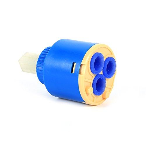 GLOGLOW 35/40mm Praktische keramische Patronenscheibe Ventil Wasserhahn Heiß und kalt Filter Wasser Mischbatterie Innenregler(35mm)