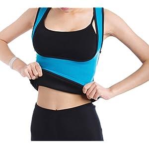 DODOING Damen Frauen Sport Sweat Vest Hot Neopren Sauna Tank Top Weste Abnehmen Taillen Trainer Cincher Körper Former Bodysuit für Gewicht Verlust mit Zipper