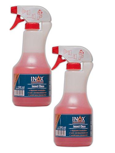 INOX Insect Clean Insektenentferner Konzentrat, 2x 500ml - Reiniger für die Fahrzeugpflege