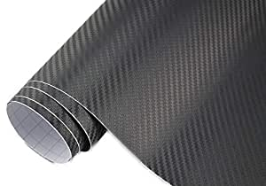 3 22 m 3d carbon folie schwarz meterware 200 x 152 cm. Black Bedroom Furniture Sets. Home Design Ideas