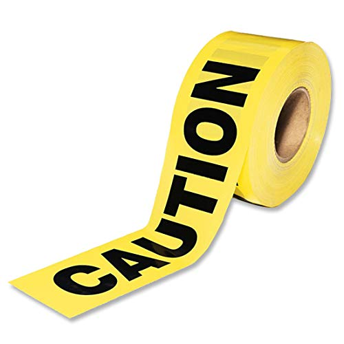 nd, Warnung Absperrband Bodenmarkierungsband, Gelb Schwarzes Nichtklebendes Sicherheitsband, FüR Stufen-Eigenschafts-Gaslinie-Strafverfolgungs-Bau-Arbeiten, 100M ()