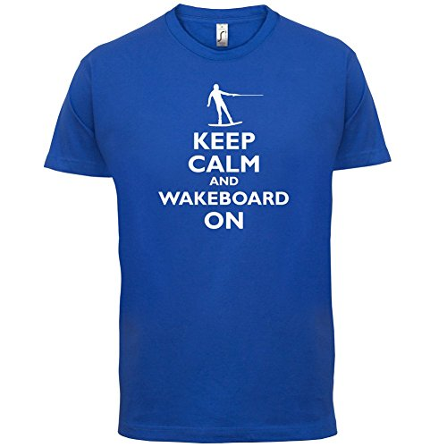 Keep Calm and Wakeboard On - Herren T-Shirt - 13 Farben Royalblau
