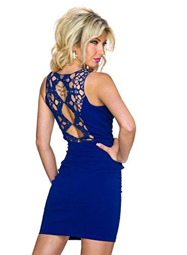 Italy Moda Damen Kleid Blau