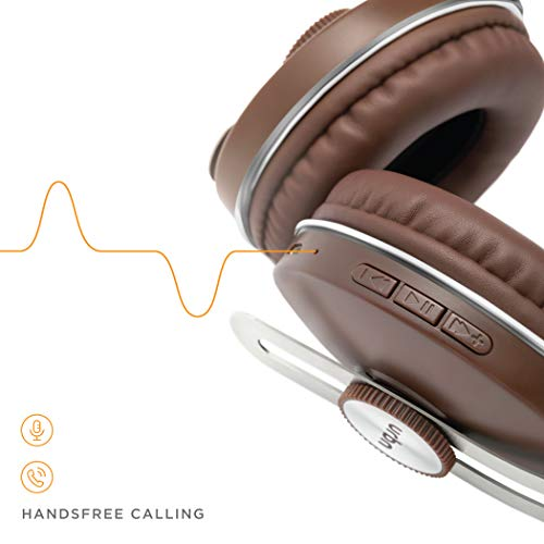 URBN Thump 500 Bluetooth Wireless Headphone with HD Sound Deep Bass and Built-in Microphone (Brown)