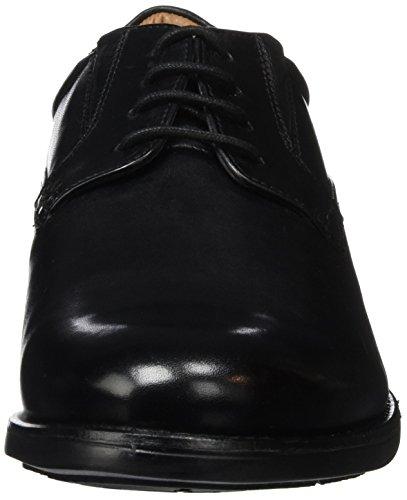 Clarks Hopton Walk, Scarpe Stringate Uomo Nero (Black Leather)