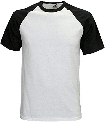 Baseball T-Shirt für Männer - zweifarbig - weiß/schwarz