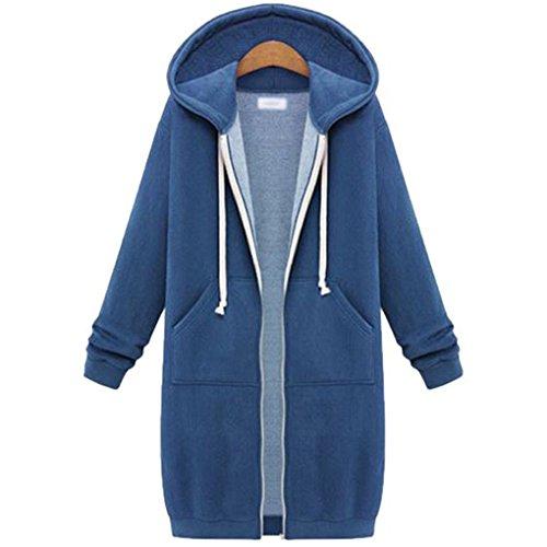 YunPeng Women's Medium Fashion Hooded Cardigan Sweater Coats (Womens Cozy Cardigan)