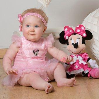 Disney Minnie Mouse Pink Sparkle Tutu with Headband 3-6 months Sparkle Tutu