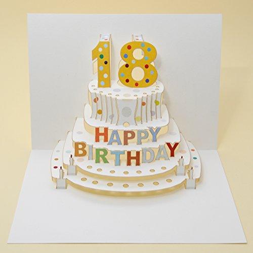 Forever Handmade Pop Up Karte zum 18. Geburtstag - edel und elegant mit verblüffender Wirkung beim Öffnen, da im Lasercut-Verfahren aus einem Blatt hochwertigen Kartons hergestellt. GP005