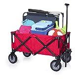 Carrello da giardino pieghevole Campart Travel HC-0911 - Capacità 70 kg - Rosso