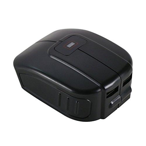 Preisvergleich Produktbild POWERAXIS Akku USB Adapter / Ladegerät für Makita 14,4 V & 18 V Li-ion Akkus (BL1430/ BL1440 / BL1830/ BL1840) zum Handy / Tablet / Smartphone laden / USB Ventilator / Lampe betreiben