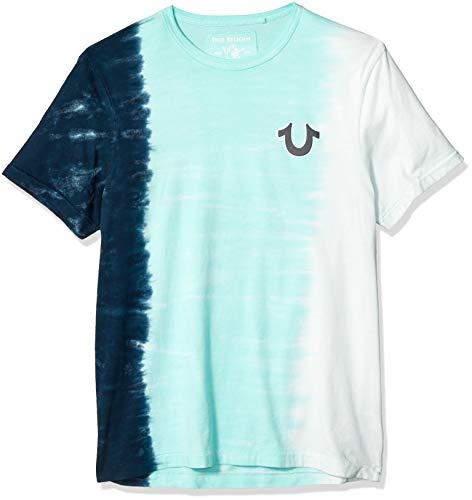 True Religion Herren Vertical TIE DYE Tee T-Shirt, Navy Blue, XX-Large -
