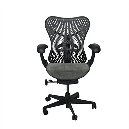Top HERMAN MILLER MIRRA TRIFLEX OFFICE DESIGNER CHAIR DARK WITH GREY SEAT AND GREY BACKS Special