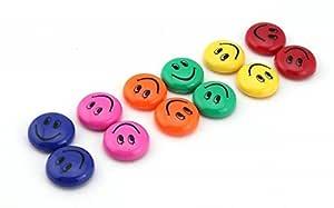 CraftDev Round Cartoon Emoji Smile Smiley Face Fridge Magnets Refrigerator Magnetic Sticker Home Decoration Toys 3cm Dia.