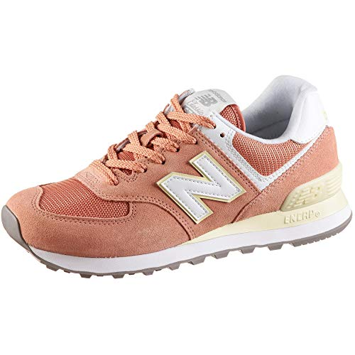 New Balance WL574-B Sneaker Damen orange/weiß, 8 US - 39 EU - 6 UK (Frauen Balance New Schuhe)