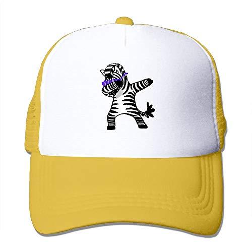 Funny Dabbing Zebra Trucker Hat Unisex Adult Baseball Mesh Cap Black - Zebra Bottle Cap