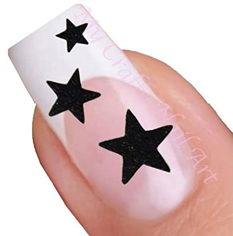 Etoiles noires adhésifs autocollants pour nail art