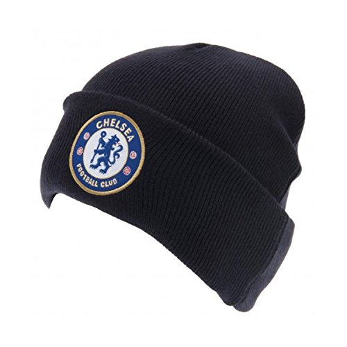 Chelsea London FC Wintermütze Mütze blau Hut Cuff Knitted Adult Royal Fanartikel