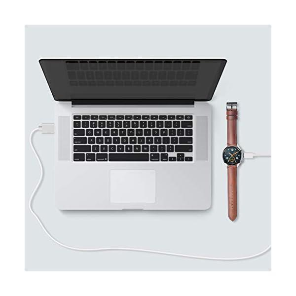 AIEVE Cable de Cargador para Huawei Watch GT, Base de Acoplamiento del Cable del Cargador de Repuesto con Protector de… 7
