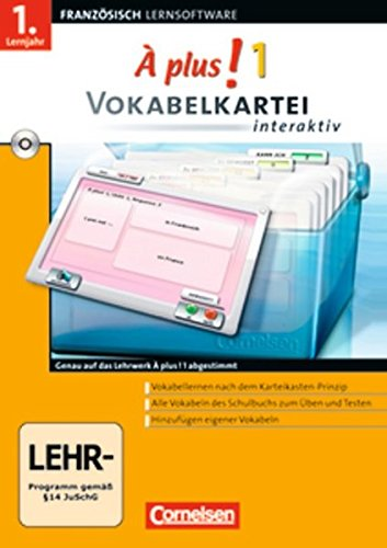 À Plus! Interaktiv - Vokabelkartei interaktiv: Band 1 - CD-ROM