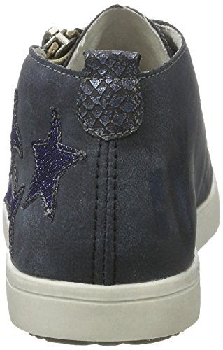 Rieker K5200, Sneakers Hautes Fille Bleu (Atlantis/royal/royal / 14)