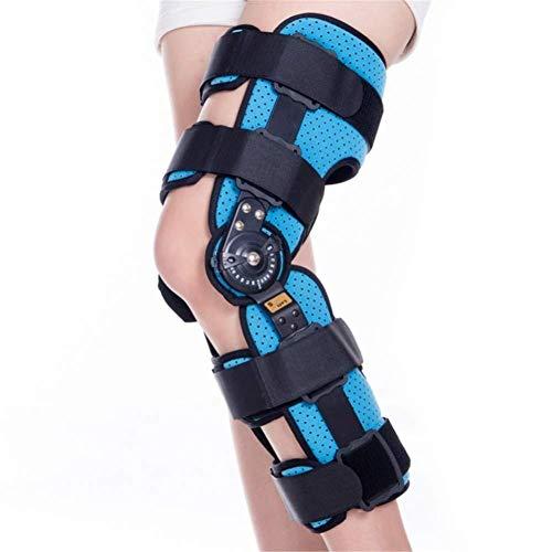 COOYT Ginocchiera Ortopedica for Ginocchio, ortesi for Ginocchio a Cerniera Patella Brace stabilizzatore Supporto for Gamba for ACL, legamenti, lesioni Sportive (Size : L)
