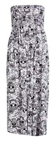 Womens Ladies Plus Size Sheering Boobtube Bandeau Strapless Top Vest Dress 8 22 KLEINER SCHÄDEL