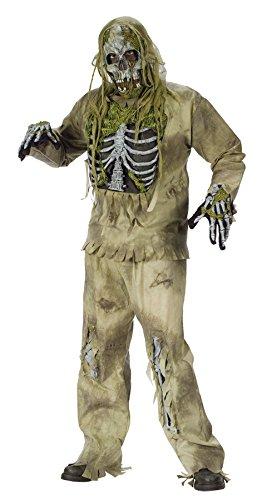 Adult Skeleton Zombie Halloween Costume Fancy Dress