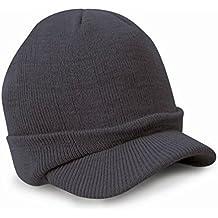DEESEE(TM) Beanie Hat Esco Peaked Army Beanie Hat Warm Wooly Winter Mens Ladies Cadet Ski Cap (Dark Blue)