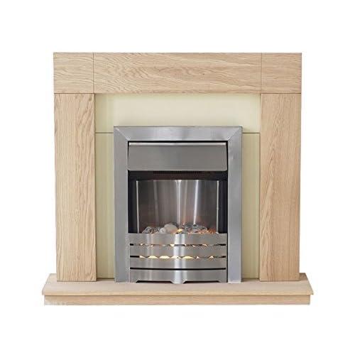 41mCmLGwSnL. SS500  - Adam Malmo Electric Fireplace Suite Oak with Helios Electric Fire, 2000 Watt