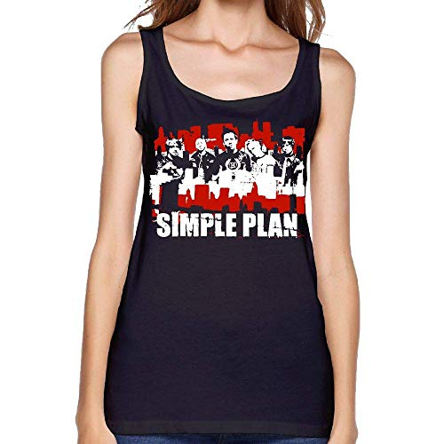 Womans Sexy Simple Plan Vest Custom T Shirts Tshirts Young Girl Tank Top,Black,XX-Large