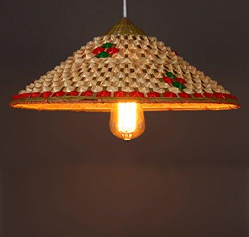 LINA-Cappello di paglia giardino il lampadario del salotto (42 * 22CM)