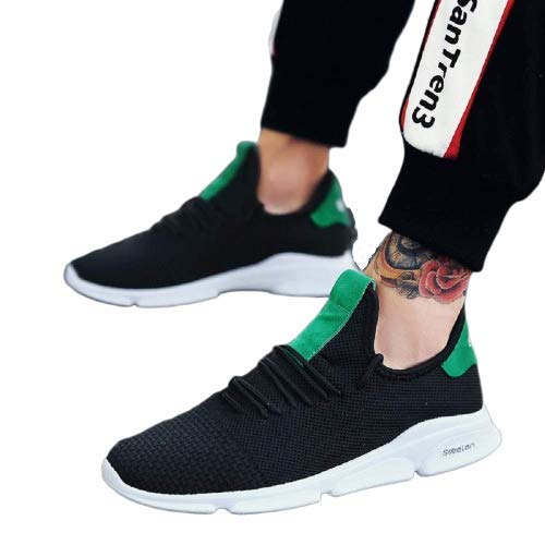 Royalcrafts Men's Sneakers/Casual Shoes/Shoes for Men's Casuals Sneakers/Unique Shoes Black